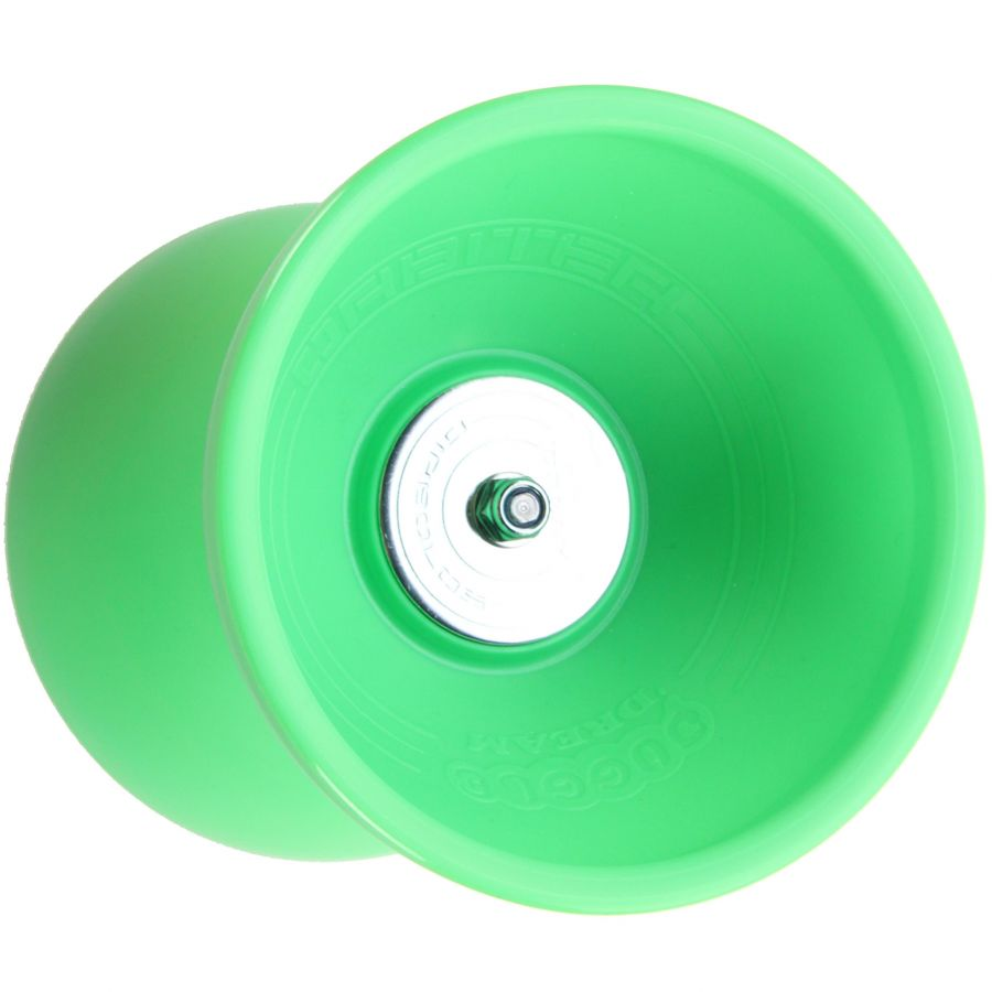 Diabolo-Orbiter-Roulements-Vert-Bag-Alu-dore-Ficelle-10m-Jaune-Sac